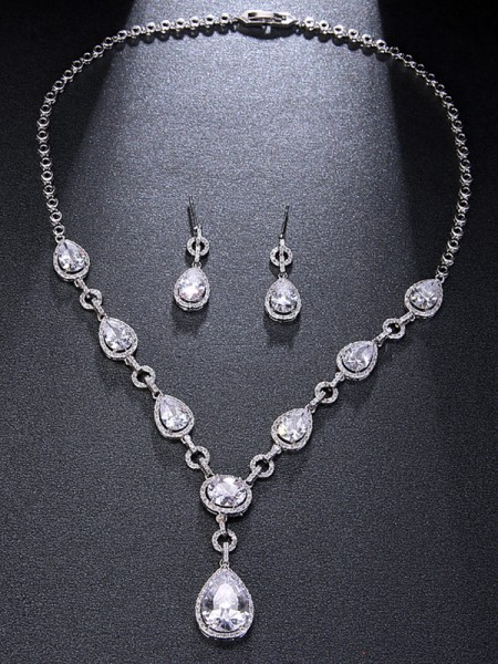 Unique Alloy Rhinestone With Water Drop Hot Sale Jewelry
