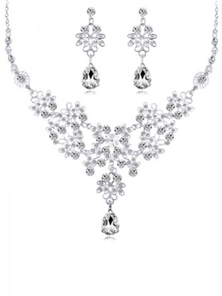 Fancy Alloy With Crystal Bridal Jewelry