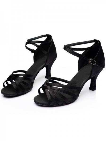 Ladies's Leatherette Kitten Heel Peep Toe Sandals