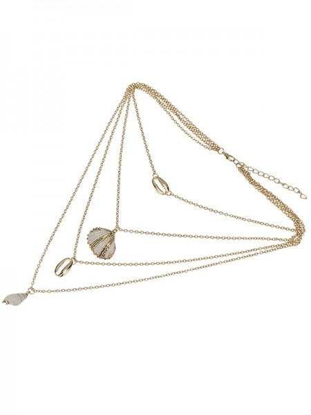 Elegant Alloy With Shell Necklaces