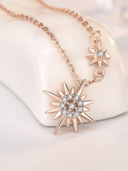 Trending Silver With Sun Necklaces