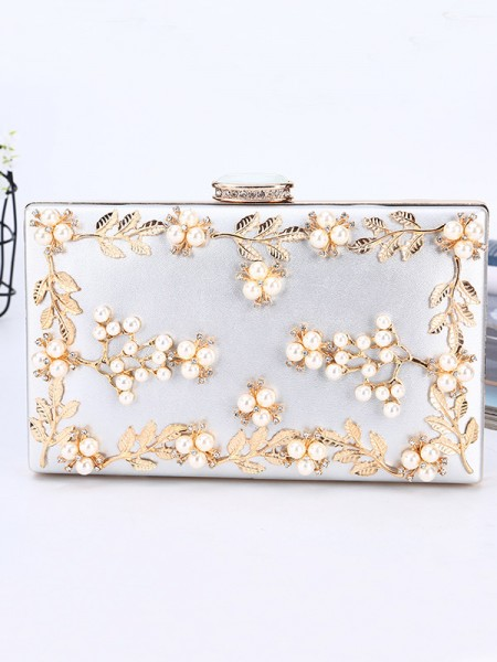 Luxurious PU Handbags With Beading