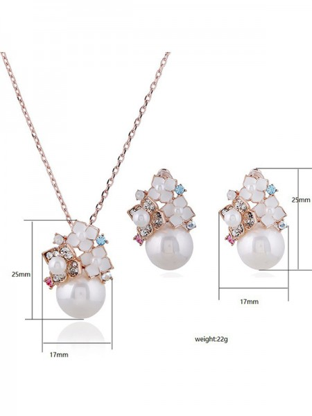 New Alloy With Pearl Jewelry