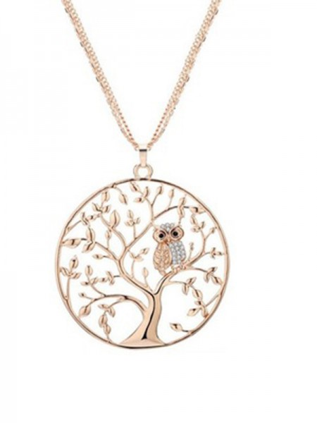 Beautiful Alloy Necklaces With Tree