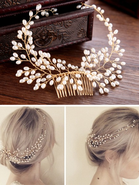 Pretty Czech Pearl Headpieces