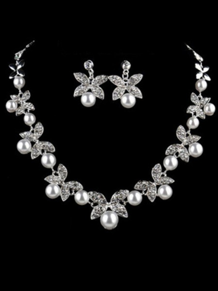 Charming Alloy With Pearl Jewelry For Women