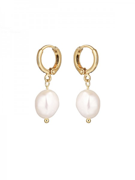 Elegant Pearl With Copper Earrings