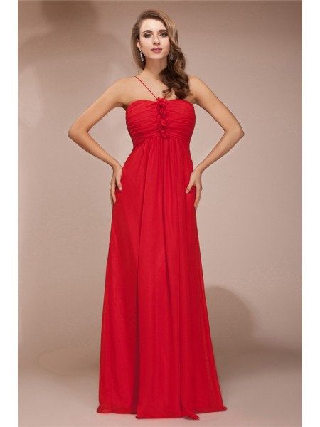 Sheath/Column Ruffles Chiffon Bridesmaid Dress