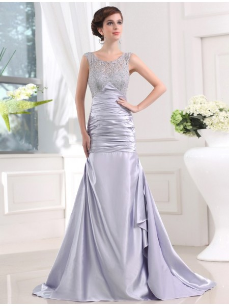Trumpet/Mermaid Elastic Woven Satin Long Dress